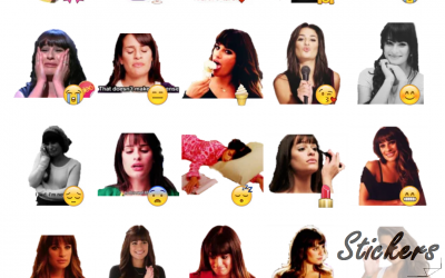 GLEE Telegram sticker set
