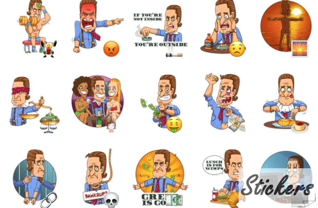 Gordon Gekko Telegram stickers set