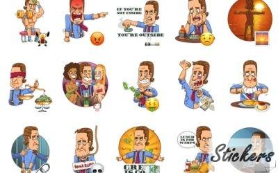 Gordon Gekko Telegram stickers set