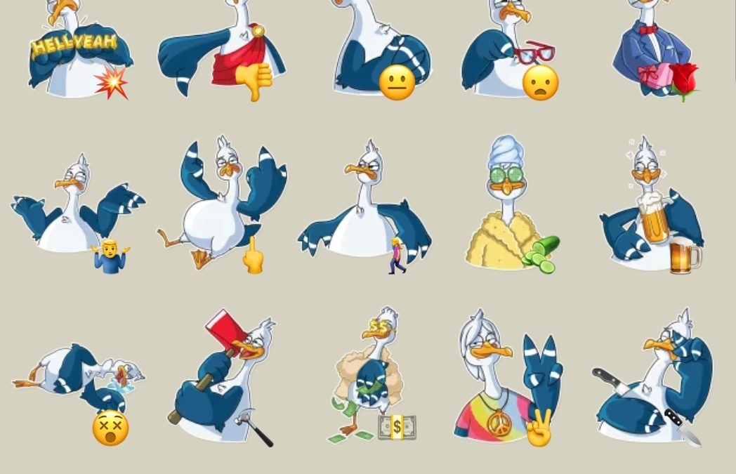 Mr. Gull Telegram stickers set
