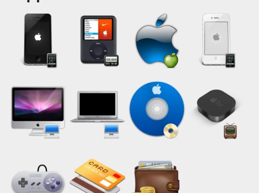 Apple sticker set