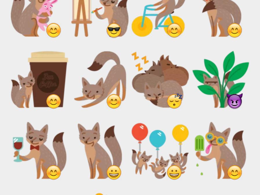 Facebook Foxes sticker set