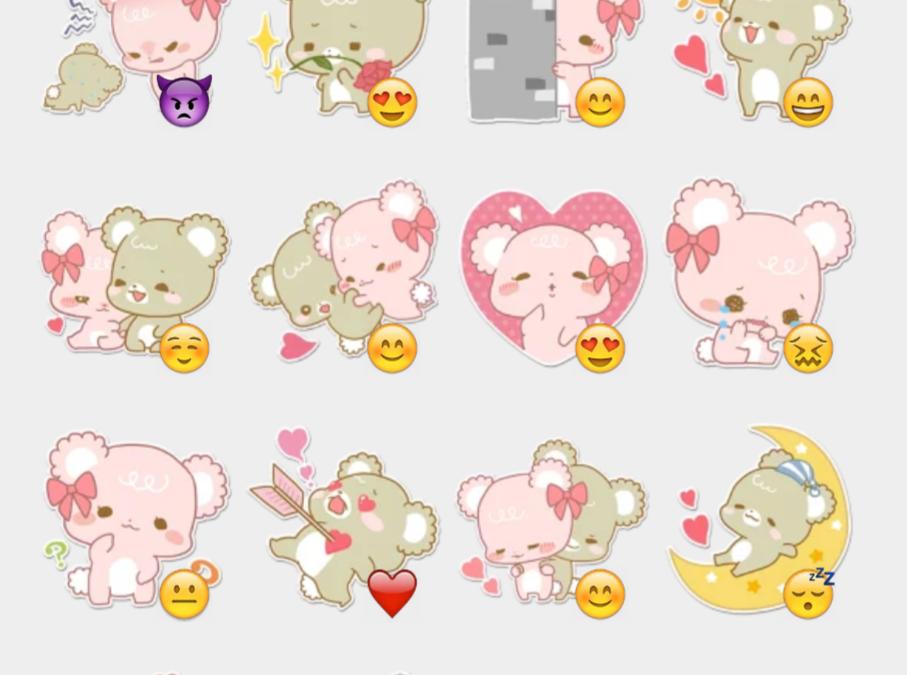 Facebook's Sugar Cubs sticker set