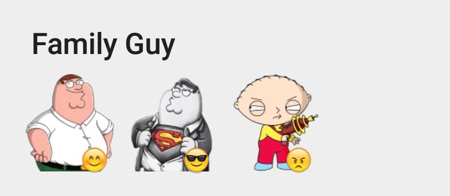 Family Guy sticker set