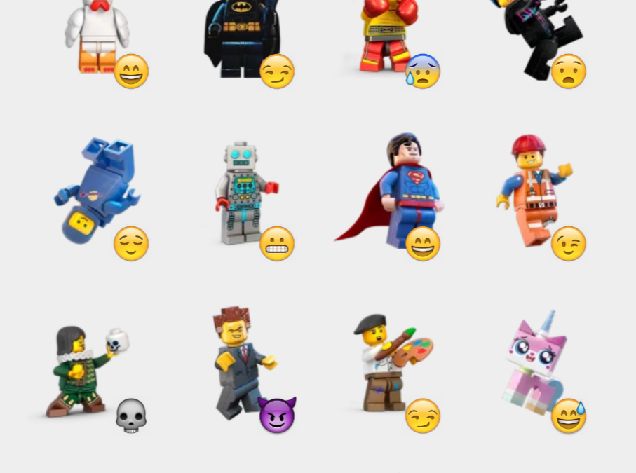 Lego Minifigures stickers set