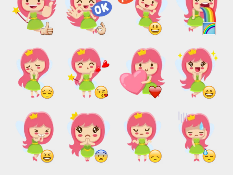 Leya the Fairy stickers set