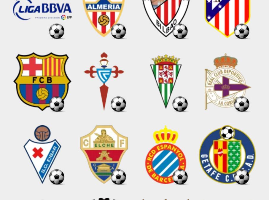 Liga BBVA stickers set