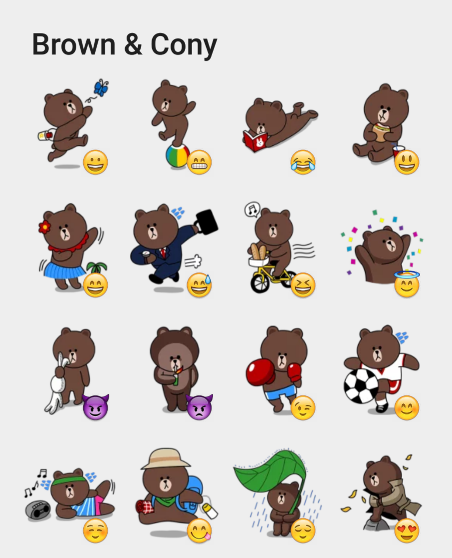 Line Brown & Cony stickers set | Stickers