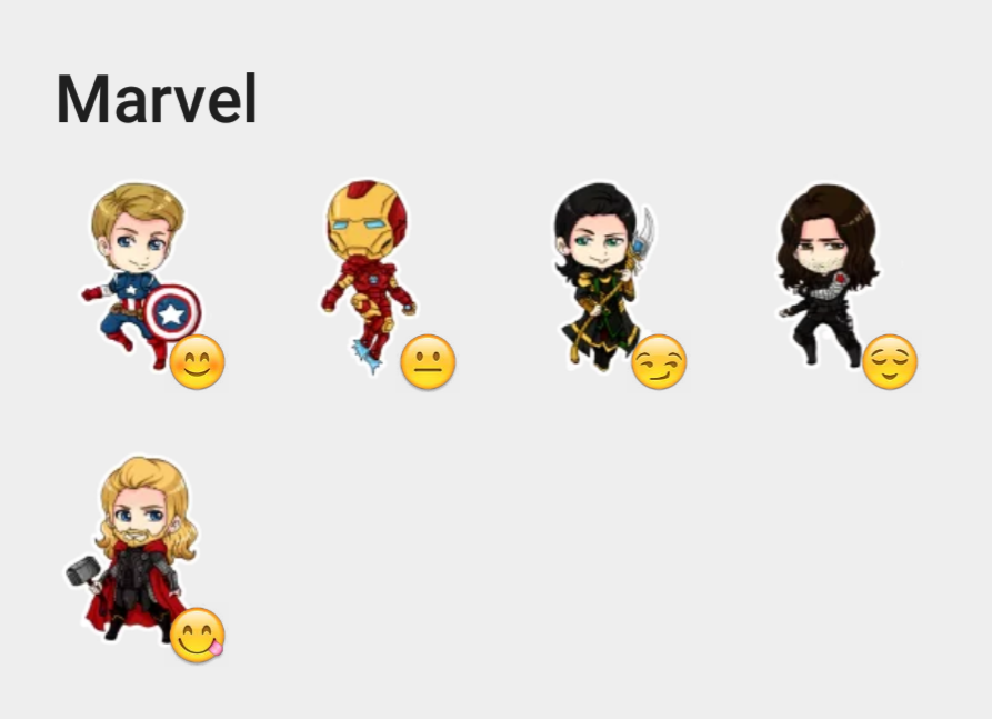 Marvel stickers set