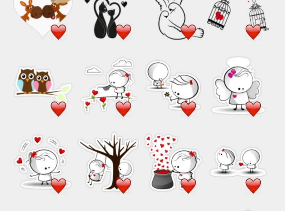 Nadia stickers set