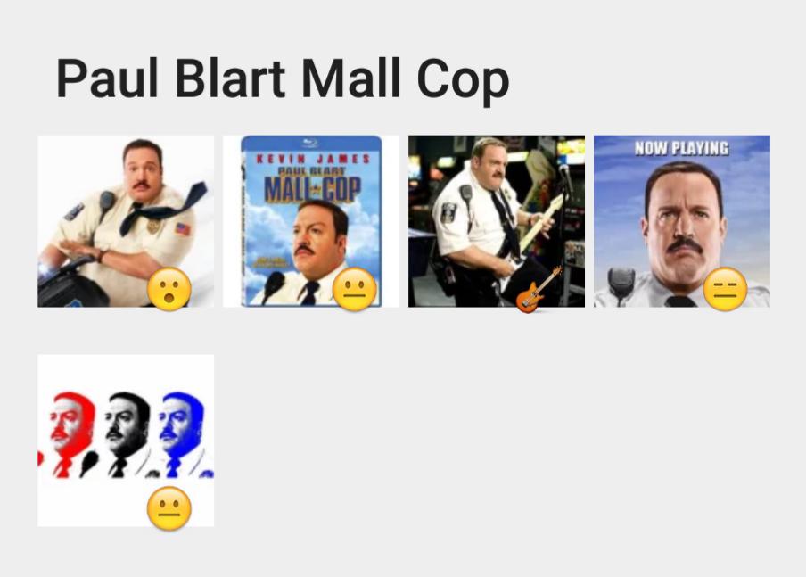 Paul Blart Mall Cop stickers set