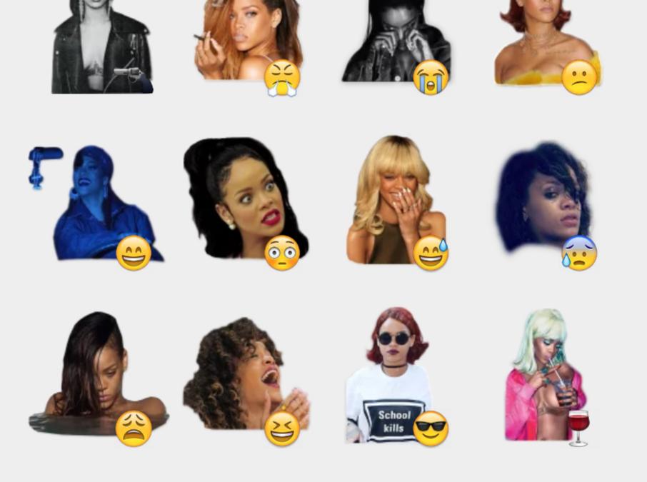 Rihanna sticker set