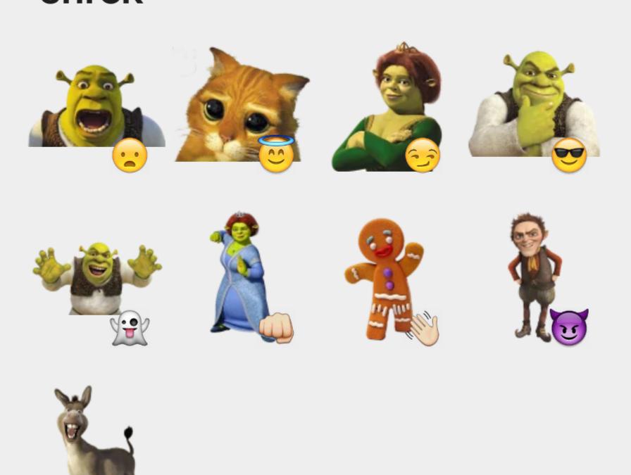 Shrek by mvito sticker set