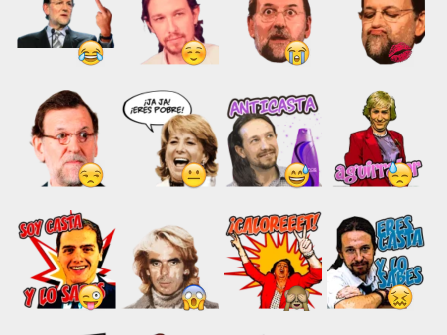 Spanish Revolution sticker set