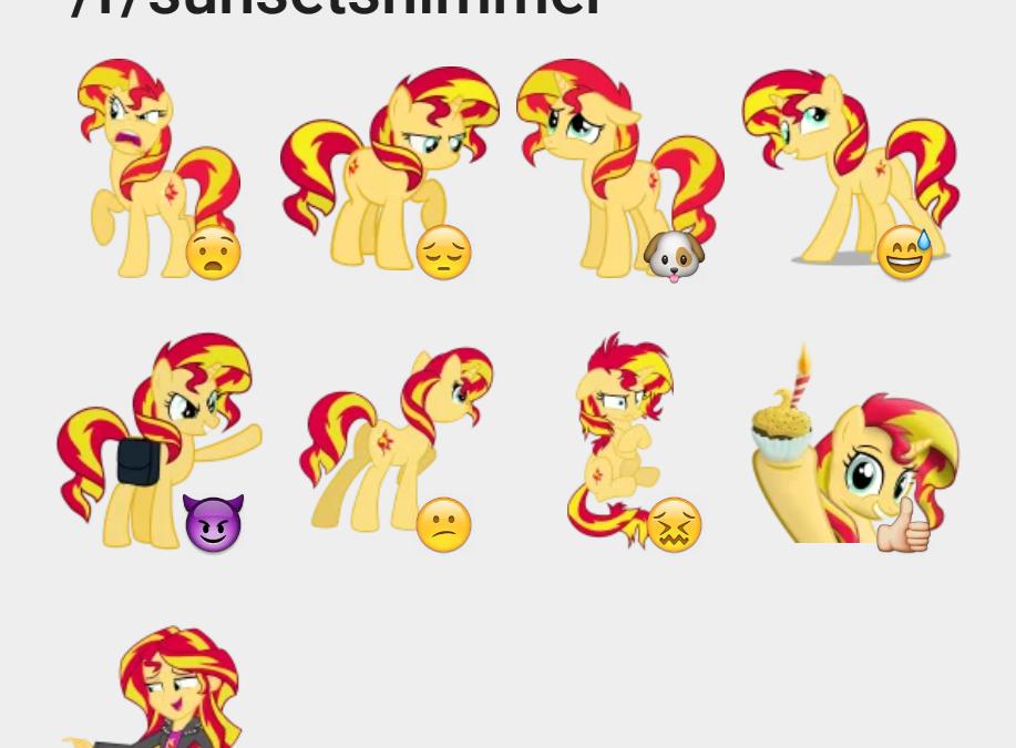 Sunsetshimmer sticker set