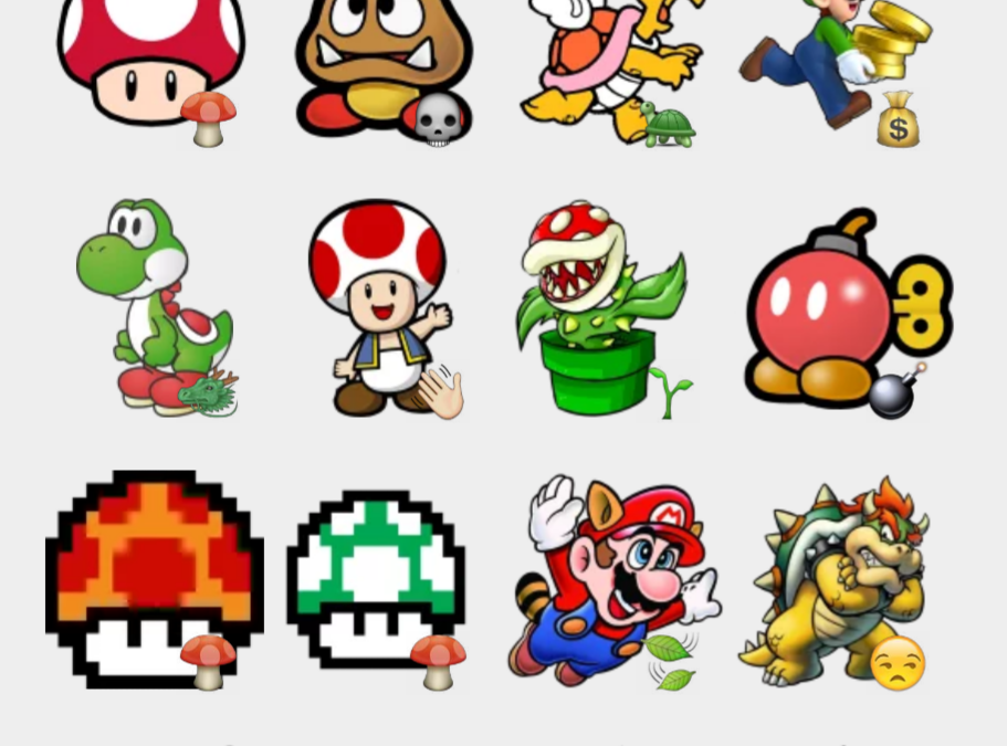 Super Mario Bros sticker set