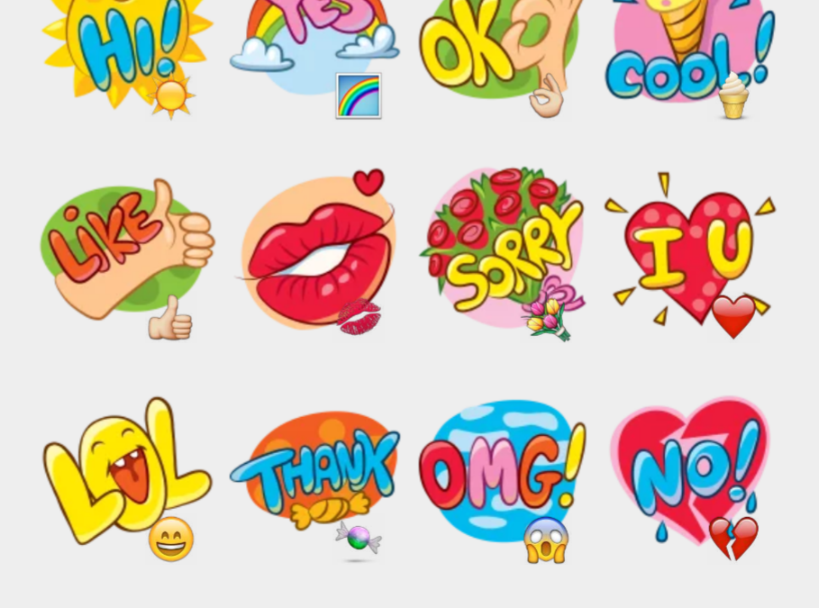 Tkinking out loud stickers set
