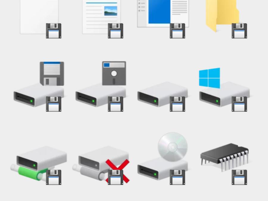 Windows 10 sticker set