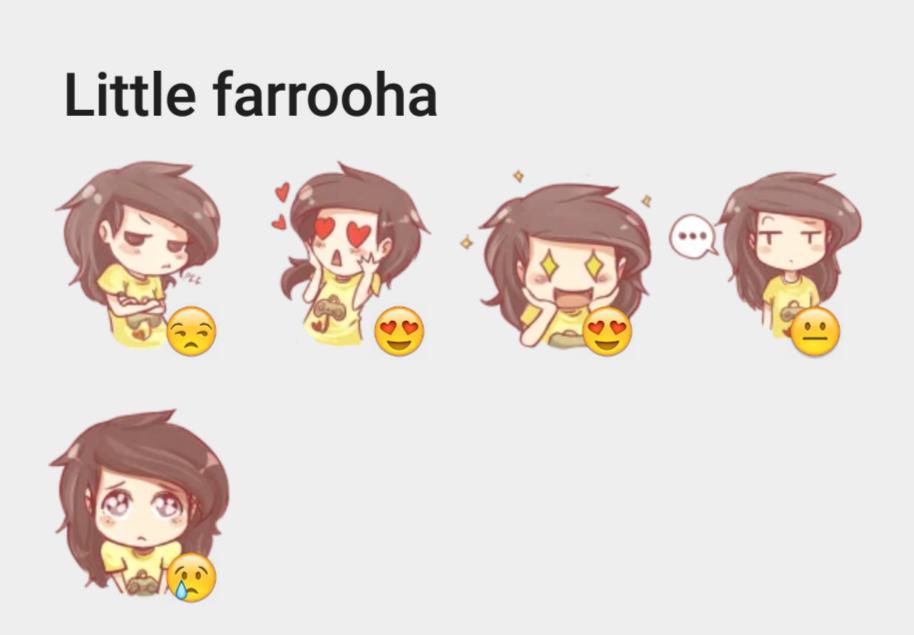 Little farrooha sticker set