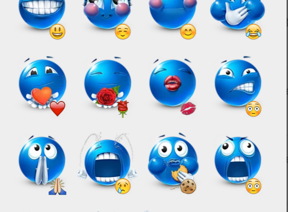 The Blue Mike stickers set
