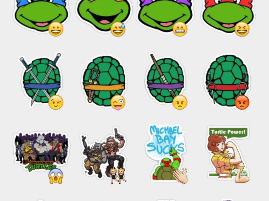 Teenage mutant ninja turtles stickers set