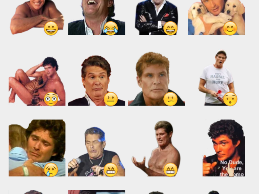 The Hoff stickers set