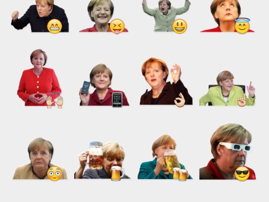 Merkel Pack Telegram sticker set