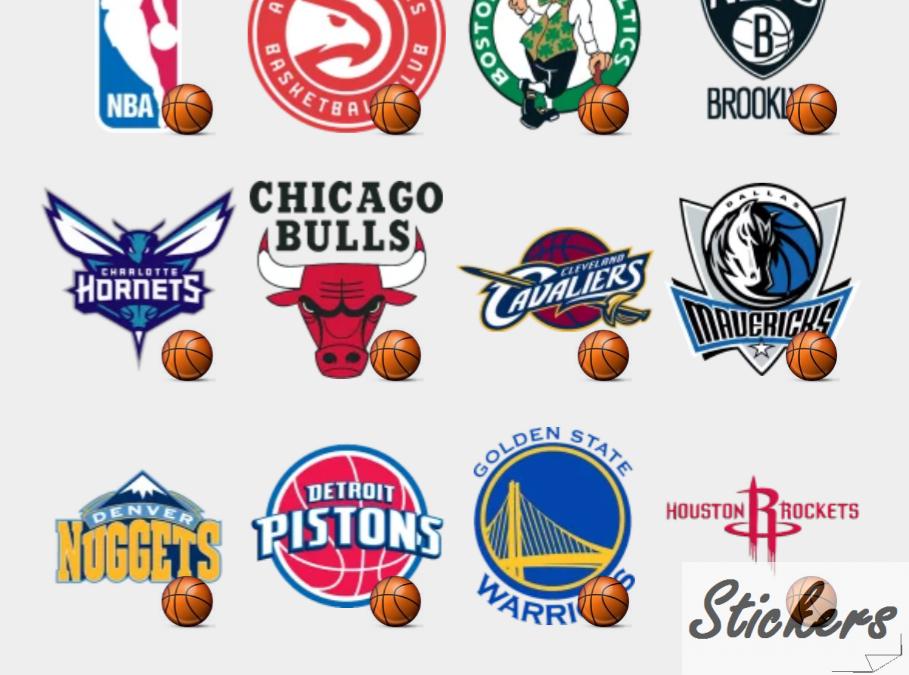 NBA logo's pack Telegram sticker set