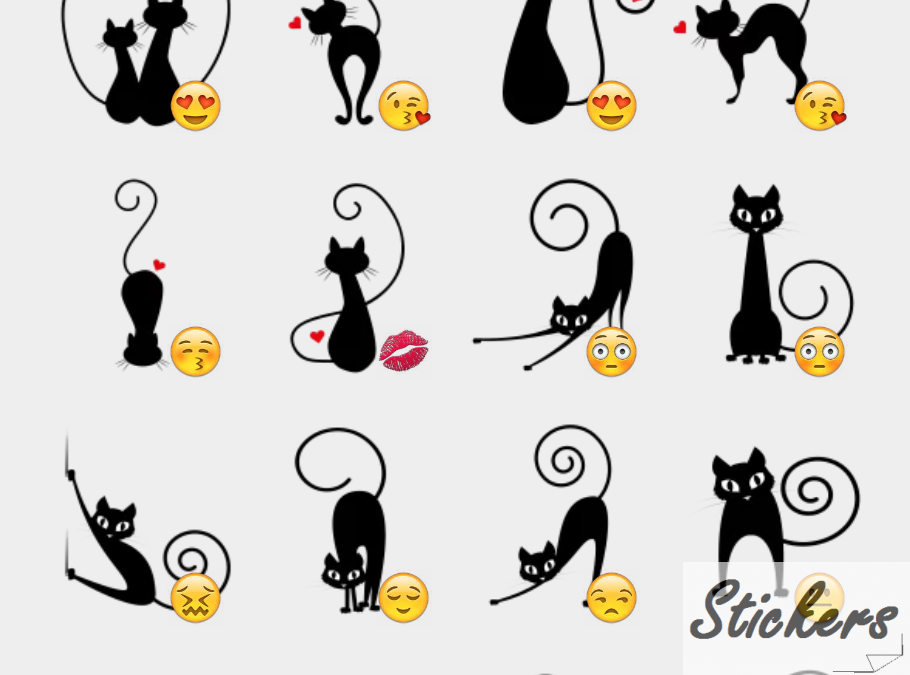 Lovecat Telegram stickers set