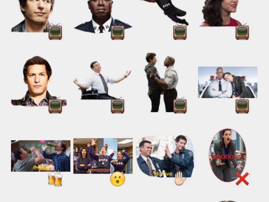Brooklyn Nine-Nine stickers set