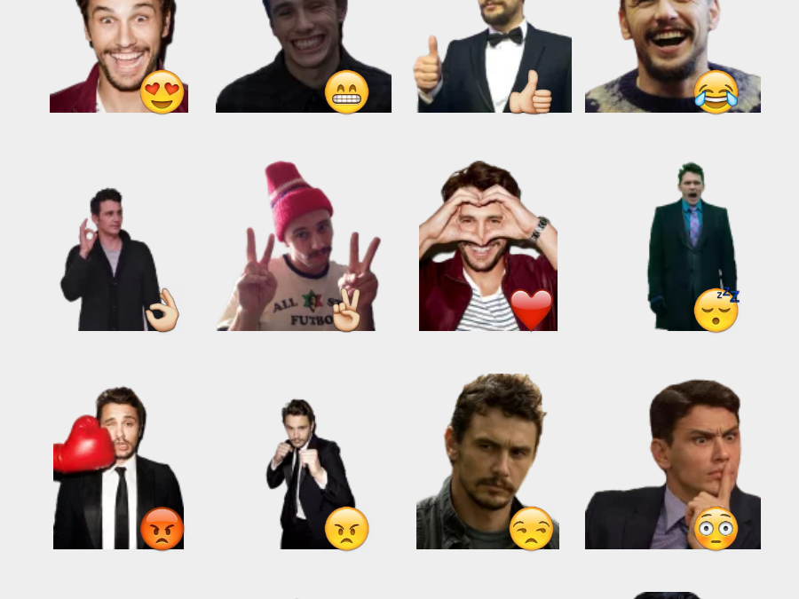 ..:: James Franco ::.. sticker set