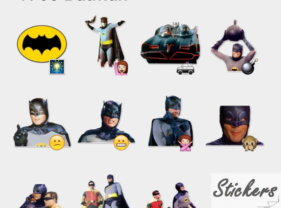 1960 Batman Telegram sticker set