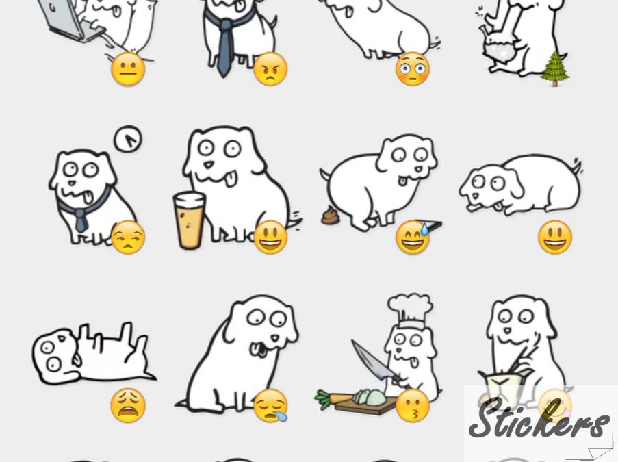 College Dog Telegram sticker set