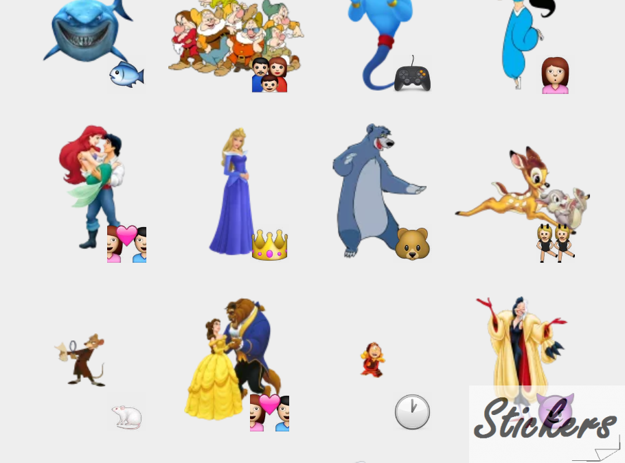 Disney 1 Telegram sticker set