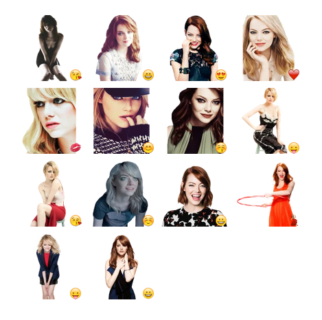 Emma Stone Telegram sticker set