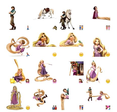 Tangled Rapunzel Telegram sticker set