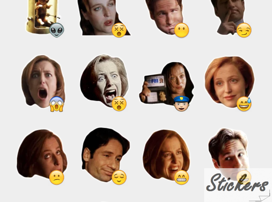 X-Files Telegram sticker set