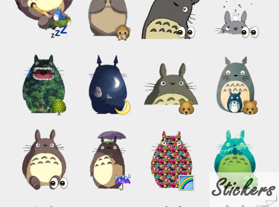 Totoro Telegram sticker set