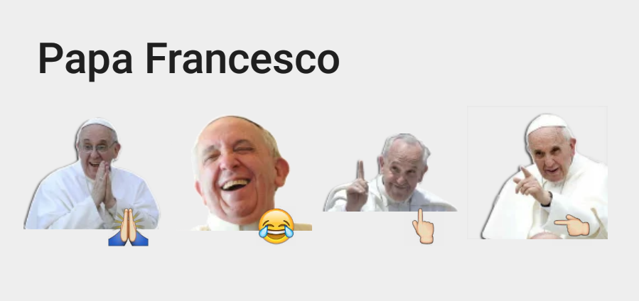Papa Francesco Telegram sticker set