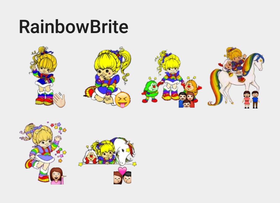 RainbowBrite Telegram sticker set