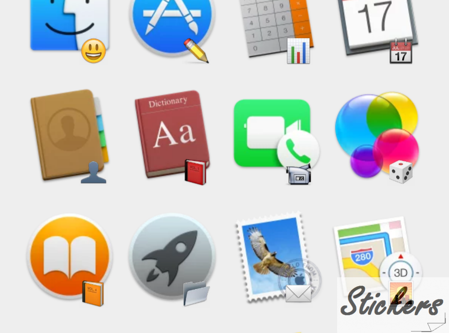 OS X Yosemite Telegram sticker set
