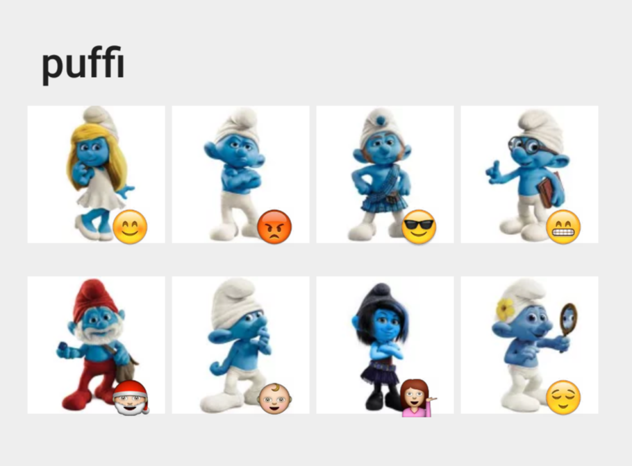 Puffi Telegram sticker set