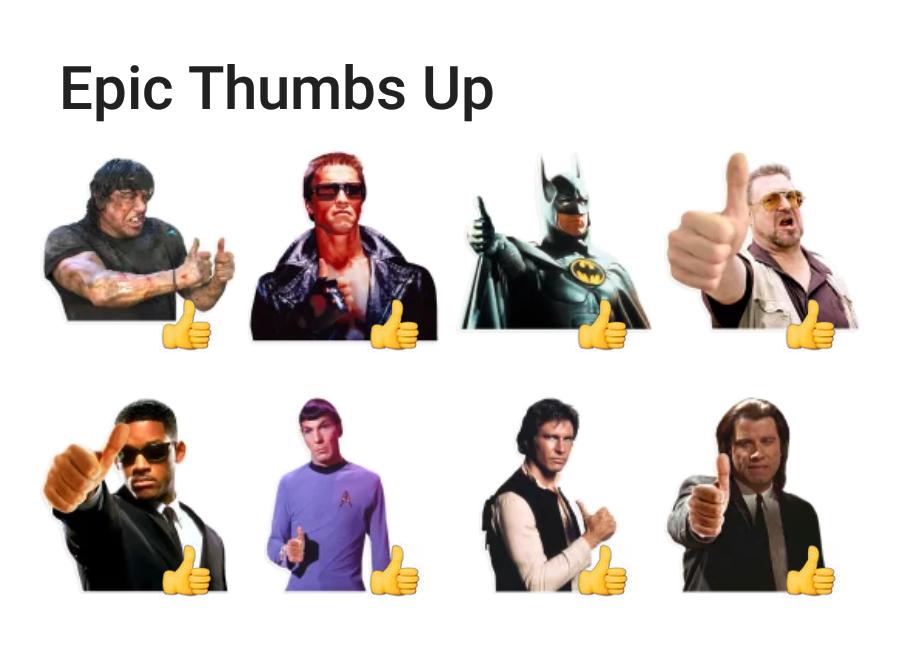 Epic Thumbs Up Telegram sticker set