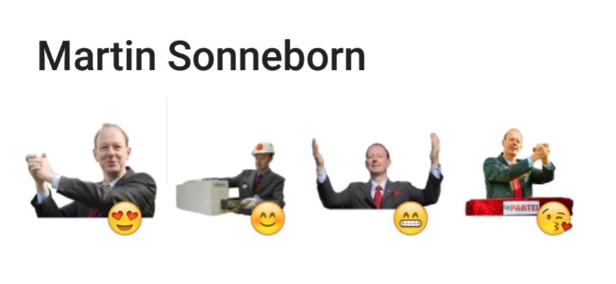 Martin Sonneborn Telegram sticker set