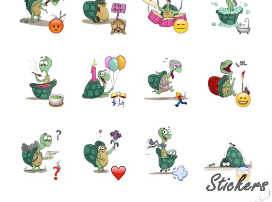 Slowy the Turtle Telegram sticker set