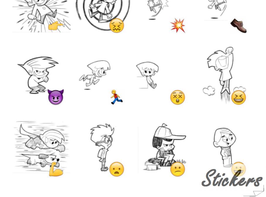 Retro-Style Characters Telegram sticker set