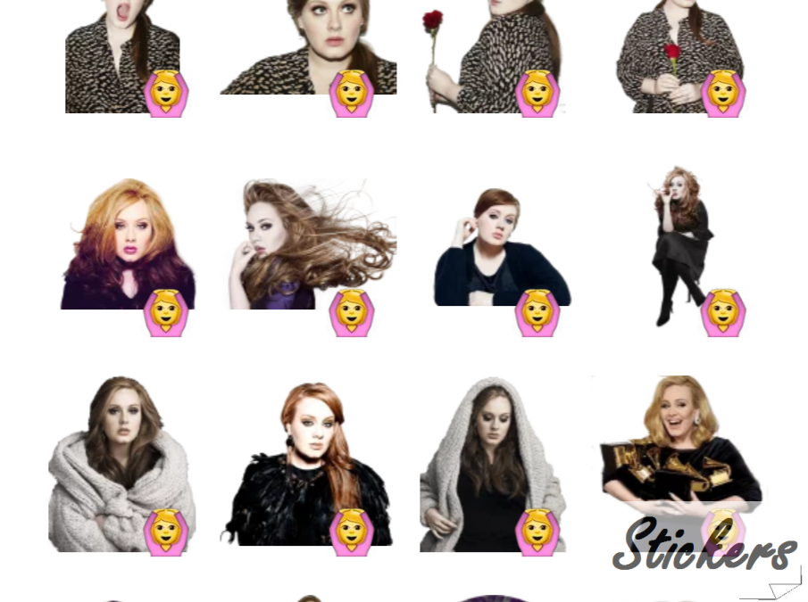 Adele by sononicola Telegram sticker set