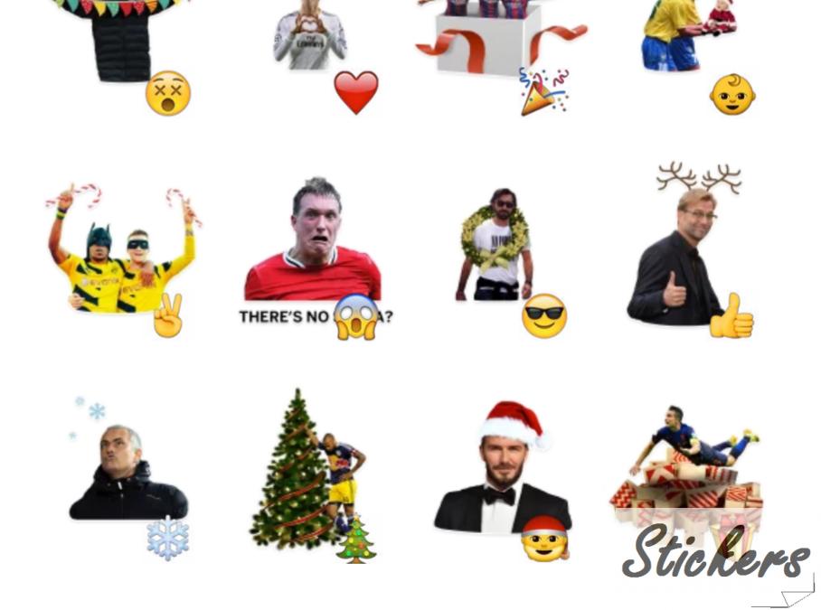 Christmas Football Pack Telegram sticker set