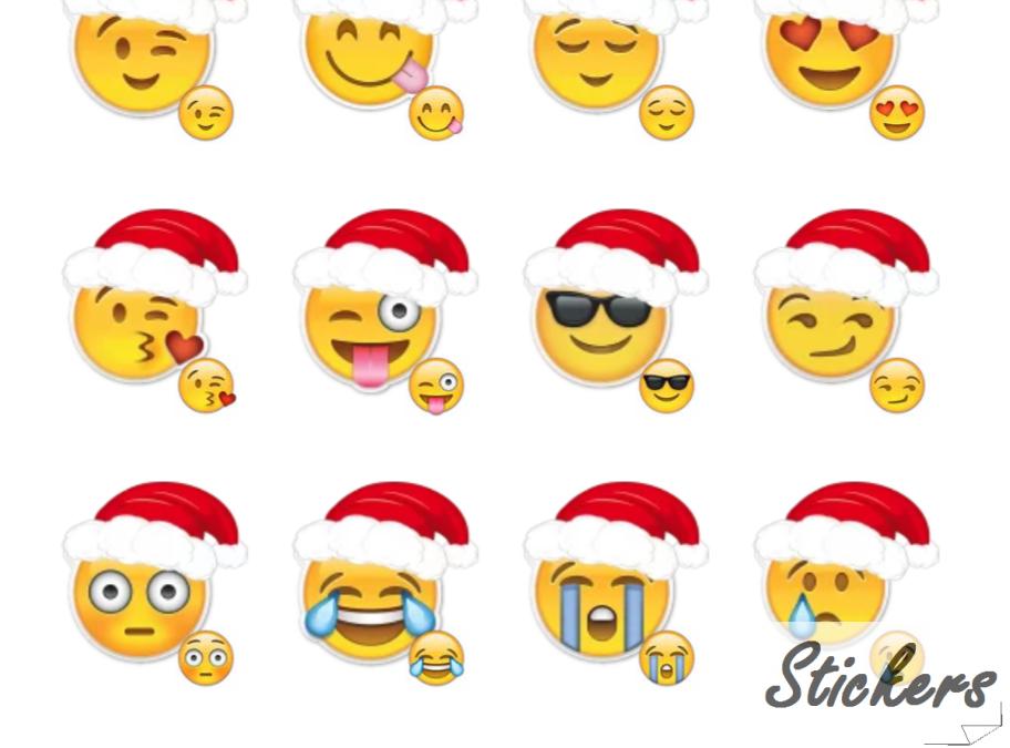 Merry Christmas Emoji Telegram sticker set