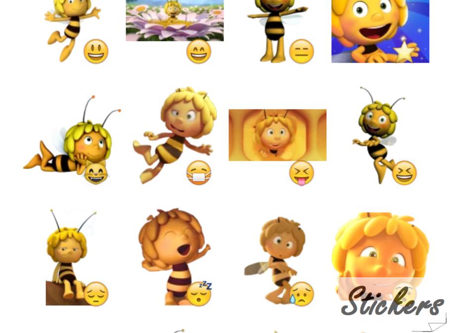 Maya the bee Telegram sticker set